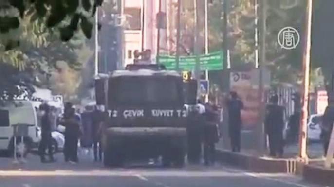 7 октября более 20 регионов Турции охватили протесты. Скриншот видео.