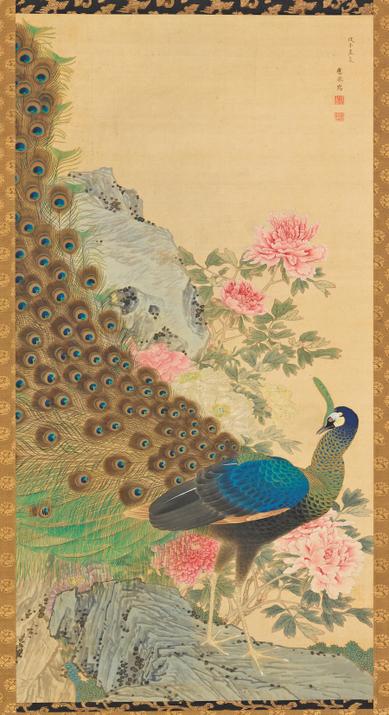 «Павлин и пион», Сузуки Кицу, (1796-1858). Фото: R.&  B.Feinberg