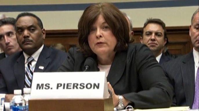 Глава Секретной службы страны Джулия Пирсон подала в отставку. Скриншот видео.