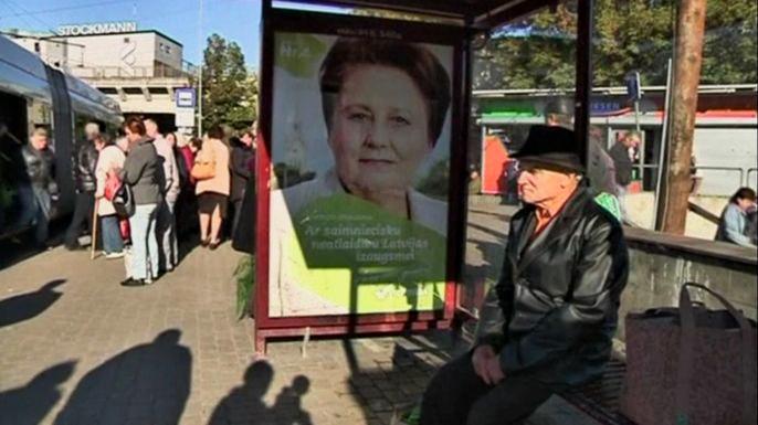 Латвия в субботу выбирает парламент. Скриншот видео.