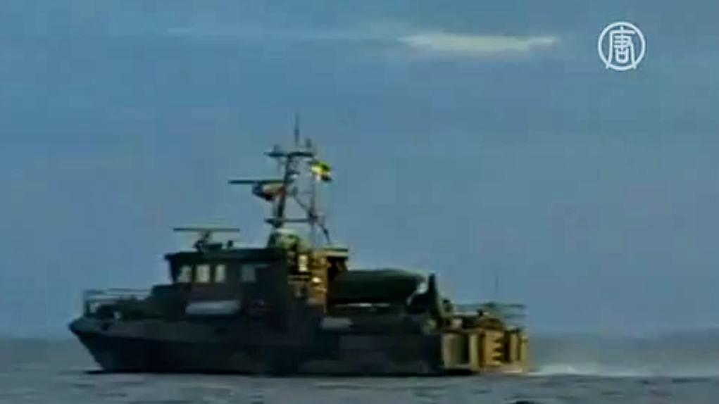 Швеция в понедельник продолжила военно-разведывательную операцию в акватории Стокгольмского архипелага. Скриншот видео.
