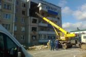 Обрушение дома в городе Данкове Липецкой области, 24 октября, 2014 год. Фото: 48.mchs.gov.ru