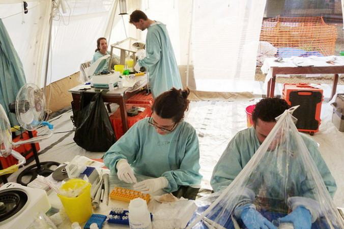 Лаборатория по выявлению в крови вируса Эбола