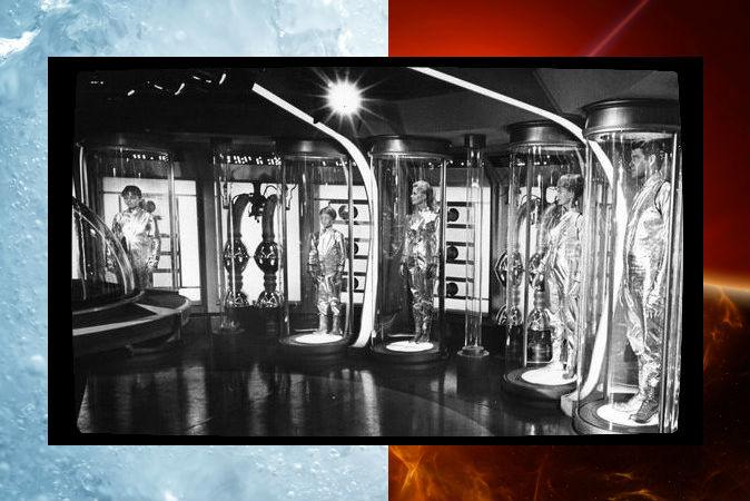 Кадр из научно-фантастического сериала 1965 г. Lost in Space, семья Робинсонов находится в замороженном состоянии. Фото: CBS Television/Wikimedia Commons/Enrico Giuseppe Agostoni/iStock/Thinkstock