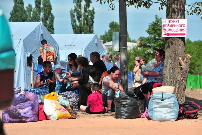 Лагерь беженцев в Ростовской области, 2 июля, 2014 год. Фото: ANDREY KRONBERG/AFF/Getti Images