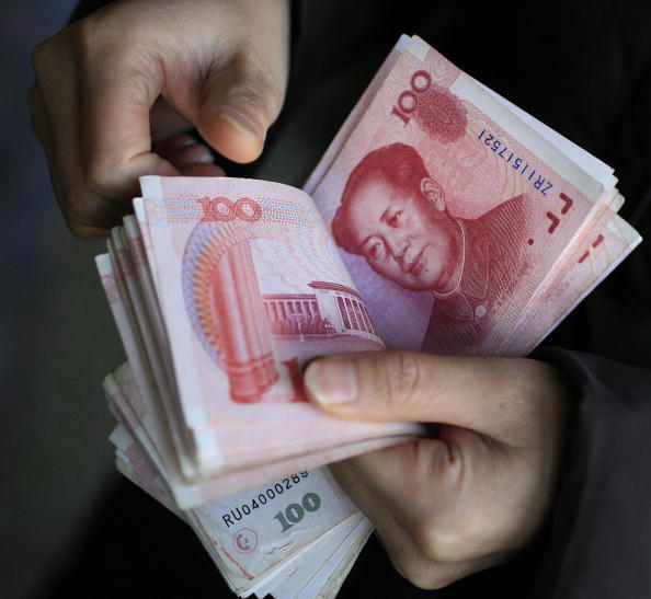 One hundred China Yuan Renminbi bank not