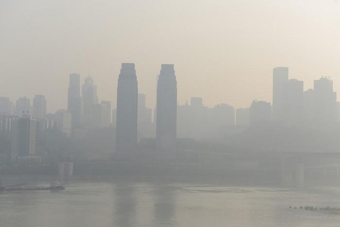 Смог в Китае. Октябрь 2014 года. Фото с epochtimes.com