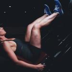 ноги, девушка, тренировка, упражнения, тренажер, атлет, фитнес