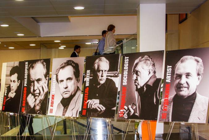 Фото Александра Александровича Зиновьева в разные годы жизни. Фото: Ульяна Ким/Великая Эпоха