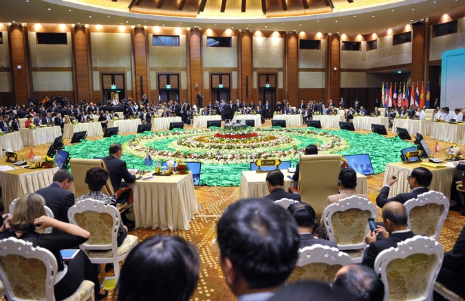 Восточно-азиатский саммит в Нейпьидо, Мьянма, 13 ноября, 2014 год. Фото: MANDEL NGAN/AFP/Getty Images