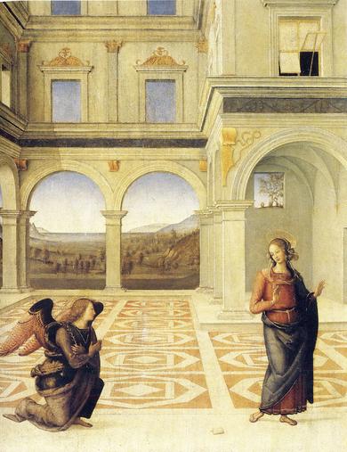 «Благовещение Девы Марии»,  Перуджино. Фото: COLLECTION PARTICULIERE
