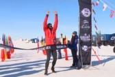 Бельгиец Марк ДеКейзер победил в ежегодном Антарктическом марафоне. Скриншот видео