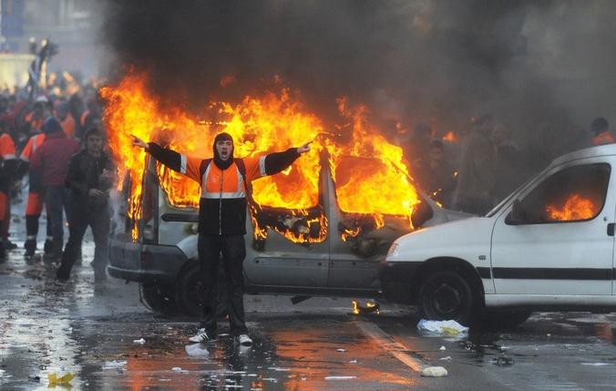 Акция протеста против  против политики жесткой экономии нового правоцентристского правительства, Брюссель, 6 ноября, 2014 год. Фото: JOHN THYS/AFP/Getty Images