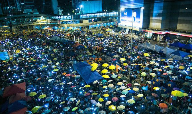 Под зонтиком протестующих Гонконга