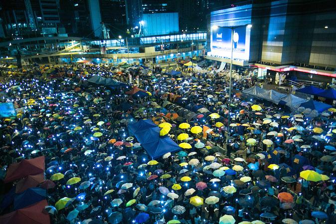 """""""Зонтичные протесты"""" в Гонконге длятся более месяца. Фото: epochtimes.com"""