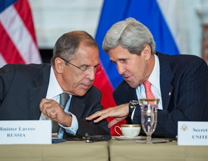 Встреча Лаврова и Керри 9 августа 2013 года. Фото: PAUL J./AFP/Getty Images