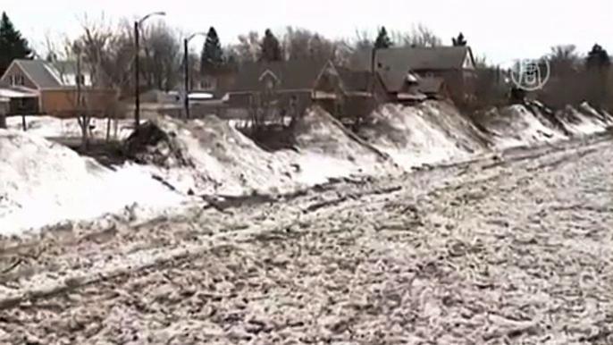 Местные власти уже готовятся противостоять стихии.  Скриншот видео.