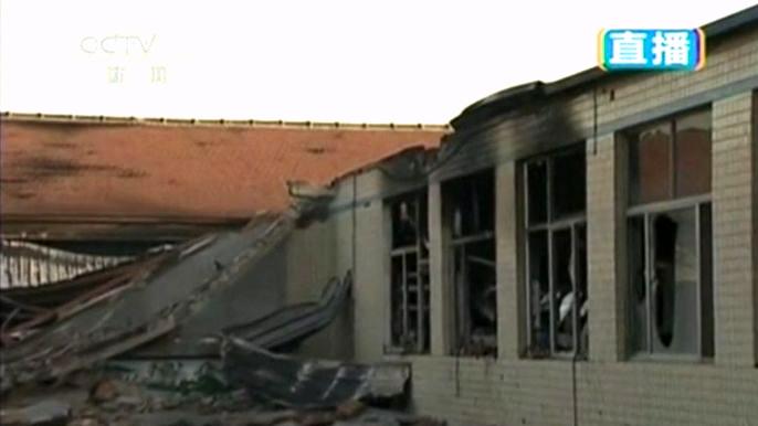 Причина возгорания неизвестна. Но полиция уже задержала руководство предприятия. Скриншот видео.