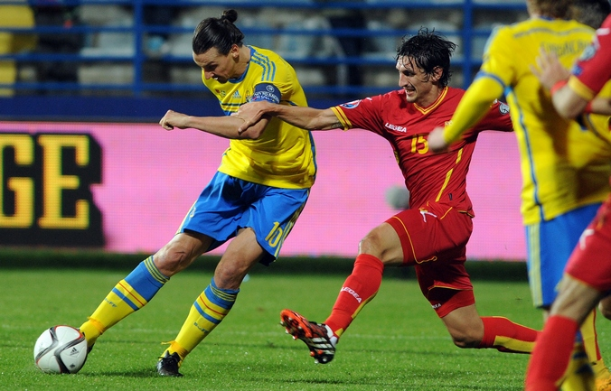 Матч между командами Швеции и Черногории в отборочном раунде ЧЕ-2016, Подгорица, Черногория, 15 ноября, 2016 года. Фото: SAVO PRELEVIC/AFP/Getty Images