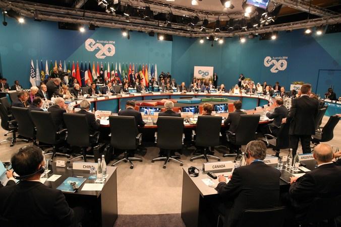 Саммит «Большой двадцатки» (G20) в Брисбене, Австралия, 15 ноября, 2014 год. Фото: Steve Christo/G20 Australia via Getty Images
