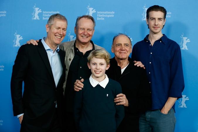 Ганс Петтер Моланд и актёры Стеллан Скарсгард, Джек Моланд, Бруно Ганц и Пол Сверре Хаген