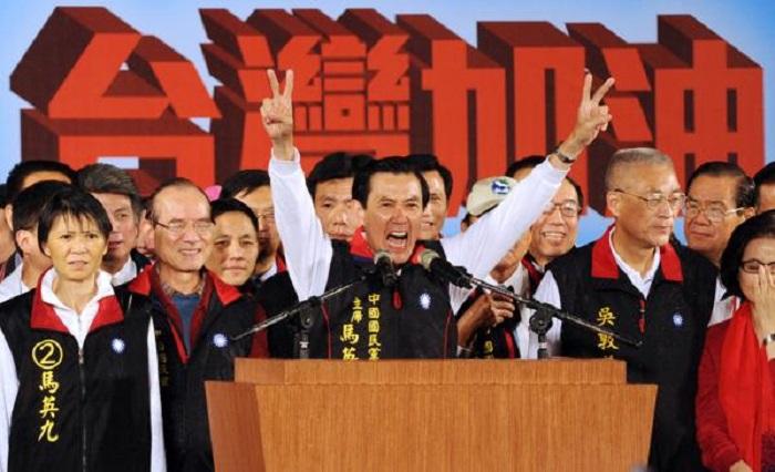 Ма Ин-цзю выступает во время выборов в 2012 году. Фото: Toshifumi Kitamura/AFP/Getty Images