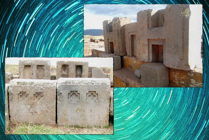 Каменные строения Пума Пунку в Боливии с астрономической ориентировкой.  Brattarb/Wikimedia Commons; Janikorpi/Wikimedia Commons