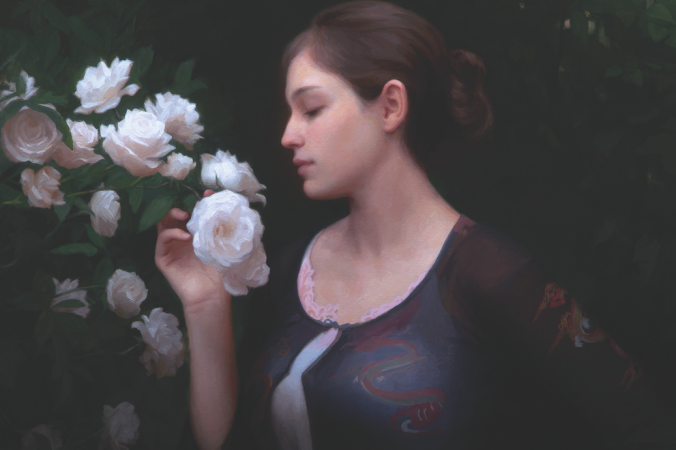 «Утренние розы», 2014 г., Адриан Готтлиб, холст, масло. Фото: Adrian Gottlieb