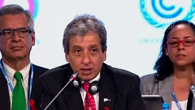 В течение двух недель делегаты из 196 стран будут разрабатывать проект нового соглашения, которое должно прийти на смену Киотскому протоколу в 2020 году. Скриншот видео.