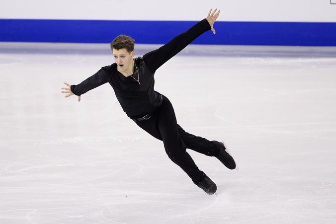 Максим Ковтун в короткой программе на Гран-при в Барселоне, 12 декабря, 2014 год. Фото: JOSEP LAGO/AFP/Getty Images
