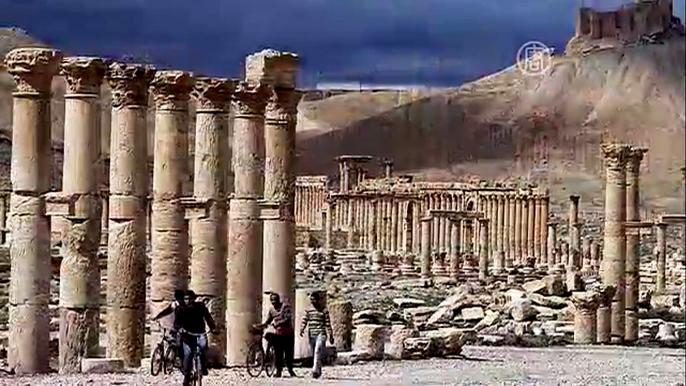 Наследие Сирии включает многочисленные исторические памятники, оставшиеся после великих империй Ближнего Востока.  Скриншот видео.