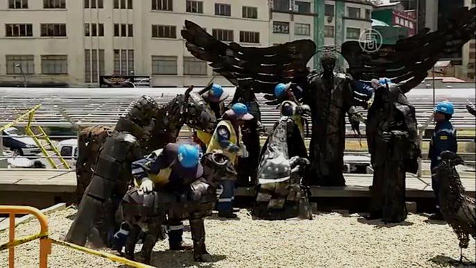 В боливийском городе Ла-Пас встречают Рождество с экологичным контекстом (видео)