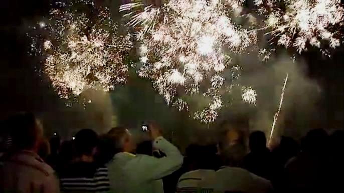 В то же время, желающие встретить новогодние праздники шумно и весело могут запустить пиротехнические средства за городом. Скриншот видео.