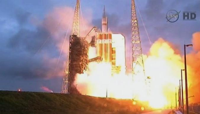 Корабль «Орион» для путешествий за пределы орбиты Земли отправился в тестовый полёт