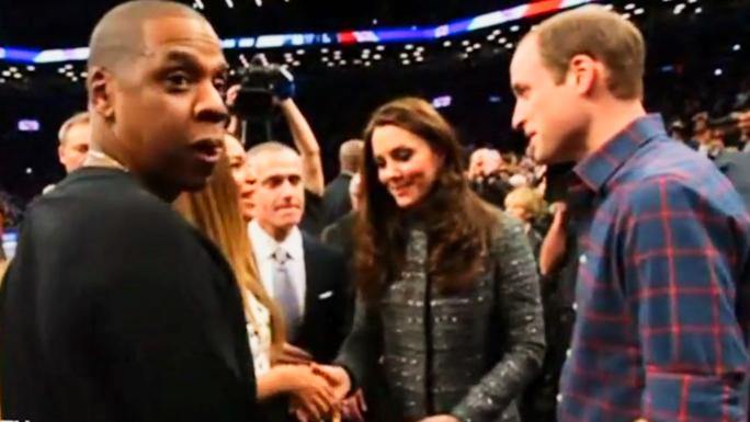 Уильям и Кейт встретились с певицей Бейонсе и баскетболистом Леброном Джеймсом (видео)