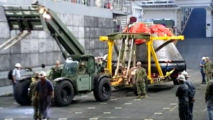 Космический корабль «Орион» доставили на материк  (видео)