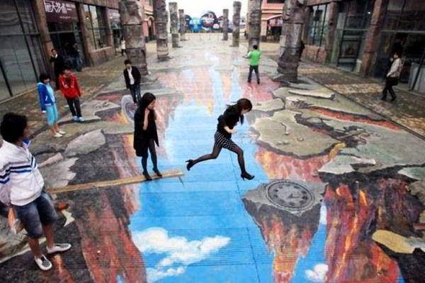 3D Живопись на улицах. Фото: youmaker.com
