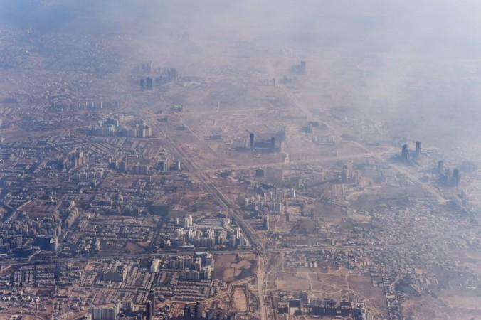 Смог окутал предместья Нью-Дели, 25 ноября 2014 г. Фото: Roberto Schmidt/AFP/Getty Images