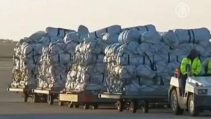 В такой помощи нуждаются 600 тысяч жителей Ирака, вынужденные мигрировать внутри страны из-за враждующих племён и захвата территорий «Исламским государством». Скриншот видео.