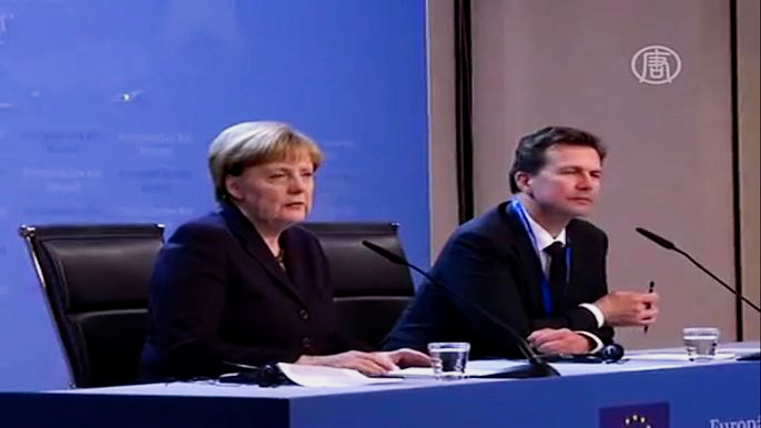 Саммит ЕС завершился на день раньше предполагаемого срока. Скриншот видео.