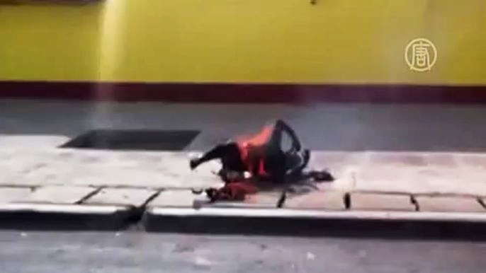 Акт суицида совершила 19-летняя девушка.  Скриншот видео.