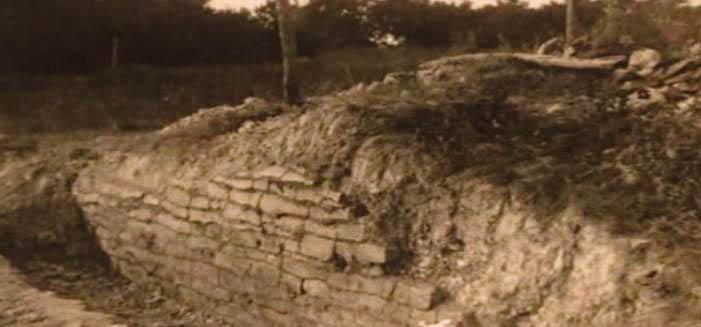 Историческое фото «стены» в Рокволе, Техас.