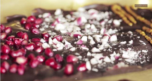 Праздничный шоколад своими руками (видео)