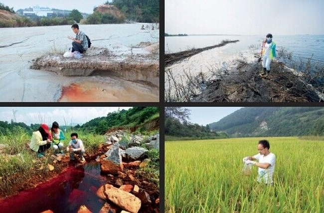 Народные экологи изучают состояние воды и почвы. Провинция Хунань, Китай. 2014 год. Фото с epochtimes.com