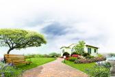 Домик с красивым зелёным газоном. Фото: gazzone.ru