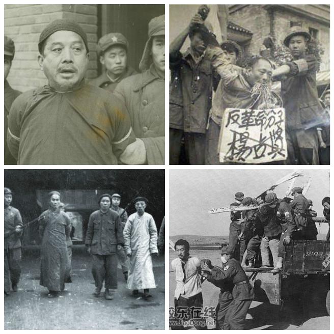 Сделанная китайским блогером подборка фотографий Нанкинской резни (слева) и движения против контрреволюции, показывающая, что разницы между этими двумя трагедиями практически нет.