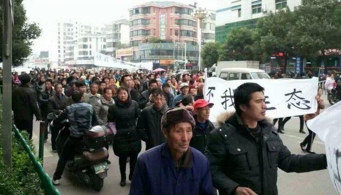 В Китае полиция подавила очередной протест крестьян