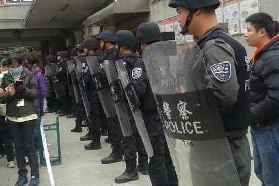 Забастовка рабочих. Город Шэньчжэнь провинции Гуандун. Декабрь 2014 года. Фото с epochtimes.com