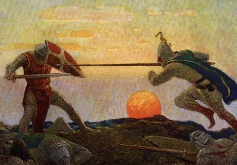 Сражение короля Артура с Мордредом
