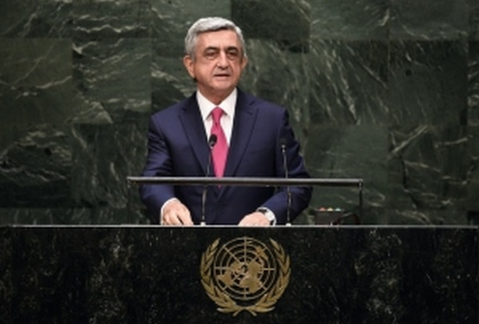 Президент Армении Серж Саргсян, Фото: JEWEL SAMAD / AFP / Getty Images
